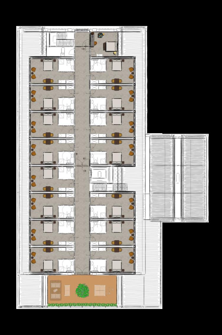 1e verdieping zorgvilla Ome Jan
